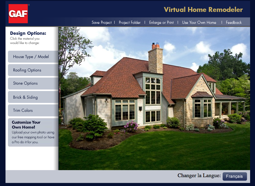 GAF Virtual Home Remodeler